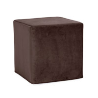 Howard Elliott Collection 850-220 Bella 17 inch Deep Chocolate Brown Ottoman photo thumbnail