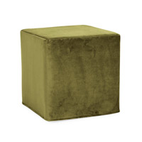 Howard Elliott Collection 850-221 Bella 17 inch Moss Green Ottoman photo thumbnail