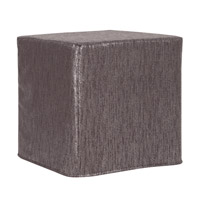 Howard Elliott Collection 850-236 Glam 17 inch Graphite Ottoman photo thumbnail