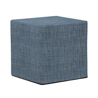 Howard Elliott Collection 850-889 Coco 17 inch Sapphire Blue Ottoman photo thumbnail