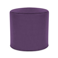 Howard Elliott Collection 851-223 Bella 17 inch Eggplant Purple Ottoman photo thumbnail