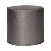 Howard Elliott Collection 851-236 Glam 17 inch Graphite Ottoman photo thumbnail