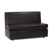 Howard Elliott Collection 857-194 Avanti Rich Black Sofa photo thumbnail