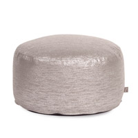 Howard Elliott Collection 871-237 Glam 12 inch Gray Ottoman