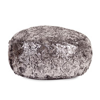 Howard Elliott Collection 871-248 Foot Pouf 12 inch Metallic Ottoman, Silver Fox photo thumbnail