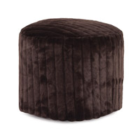 Howard Elliott Collection 872-285 Mink 18 inch Brown Ottoman photo thumbnail