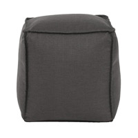 Signature Gray Ottoman, Square