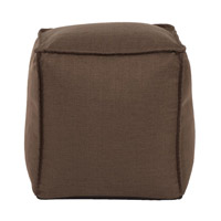 Signature Brown Ottoman, Square