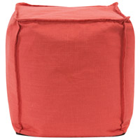 Howard Elliott Collection 873-774 Square 18 inch Poppy Red Pouf