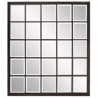 Superior 38 X 34 inch Antique Black With Brushed Bronze Highlights Wall Mirror, Rectangle
