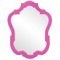 Howard Elliott Collection 92001HP Asbury 42 X 32 inch Glossy Hot Pink Wall Mirror photo thumbnail