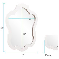 Howard Elliott Collection 92002 Asbury 42 X 32 inch White Wall Mirror, Oval alternative photo thumbnail
