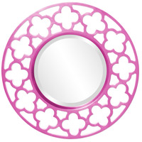 Howard Elliott Collection 92007HP Gaelic 20 X 20 inch Hot Pink Wall Mirror photo thumbnail