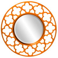 Howard Elliott Collection 92007O Gaelic 20 X 20 inch Orange Wall Mirror photo thumbnail