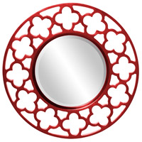 Howard Elliott Collection 92007R Gaelic 20 X 20 inch Red Wall Mirror photo thumbnail