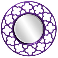 Howard Elliott Collection 92007RP Gaelic 20 X 20 inch Royal Purple Wall Mirror photo thumbnail