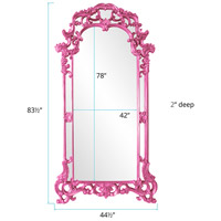 Howard Elliott Collection 92024HP Imperial 85 X 44 inch Hot Pink Wall Mirror, Rectangle alternative photo thumbnail