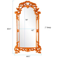 Howard Elliott Collection 92024O Imperial 85 X 44 inch Orange Wall Mirror, Rectangle alternative photo thumbnail