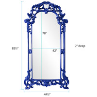 Howard Elliott Collection 92024RB Imperial 85 X 44 inch Royal Blue Wall Mirror, Rectangle alternative photo thumbnail