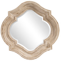 Howard Elliott Collection 92117 Aubrey 36 X 36 inch Rustic Brown Wall Mirror, Round photo thumbnail
