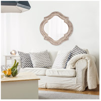 Howard Elliott Collection 92117 Aubrey 36 X 36 inch Rustic Brown Wall Mirror, Round alternative photo thumbnail