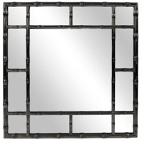 Howard Elliott Collection 92120BL Bamboo 40 X 40 inch Glossy Black Wall Mirror photo thumbnail