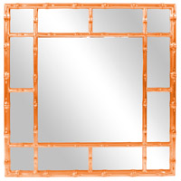 Howard Elliott Collection 92120O Bamboo 40 X 40 inch Glossy Orange Wall Mirror photo thumbnail
