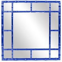 Howard Elliott Collection 92120RB Bamboo 40 X 40 inch Glossy Royal Blue Wall Mirror photo thumbnail