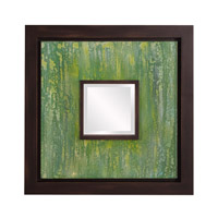 Howard Elliott Collection 92124 Monet 24 X 24 inch Green and Espresso Brown Wall Mirror, Square photo thumbnail