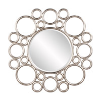 Howard Elliott Collection 92128 Cirque Silver Leaf Wall Mirror, Round photo thumbnail