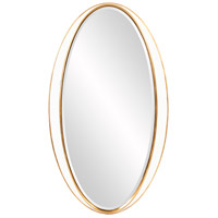 Howard Elliott Collection 92150 Rania 49 X 28 inch White and Gold Wall Mirror photo thumbnail