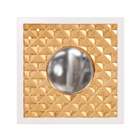 Howard Elliott Collection 92155 Ramses 20 X 20 inch Gold Wall Mirror, Square, Glossy White Border photo thumbnail
