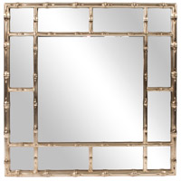 Howard Elliott Collection 92189 Bamboo 40 X 40 inch Country Silver Wall Mirror photo thumbnail