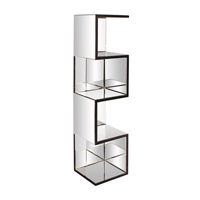 Howard Elliott Collection 99057 Carter 59 X 14 inch Mirrored with Black Trim Shelf photo thumbnail