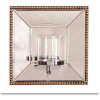 Howard Elliott Collection 99075 Lydia 12 X 12 inch Antique Gold Wall Mirror photo thumbnail