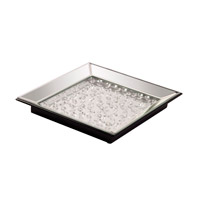 Howard Elliott Collection 99101 Signature Tray, Mirrored, Crystal Accents
