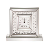 Signature 12 X 11 inch Table Clock, Mirrored
