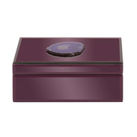 Howard Elliott Collection 99157 Geode 10 X 7 inch Amethyst Purple Decorative Box, Mirrored photo thumbnail