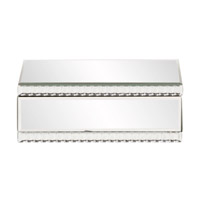 Howard Elliott Collection 99174 Signature 11 X 8 inch Decorative Box, Mirrored, Beaded Glass Trim