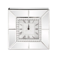 Signature 10 X 10 inch Table Clock, Mirrored, Beaded Glass Trim