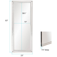 Howard Elliott Collection 99181 Gemma 63 X 23 inch Beaded Glass Trim Wall Mirror alternative photo thumbnail