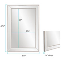 Howard Elliott Collection 99183 Gemma 47 X 31 inch Wall Mirror, Rectangle, Beaded Glass Trim alternative photo thumbnail