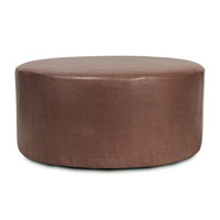 Howard Elliott Collection C132-192 Avanti 18 inch Deep Brown Ottoman Cover photo thumbnail