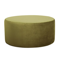 Howard Elliott Collection C132-221 Bella 18 inch Moss Green Ottoman Cover photo thumbnail