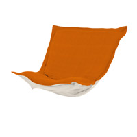 Howard Elliott Collection C300-229 Puff Orange Chair Cover, Linen Texture photo thumbnail