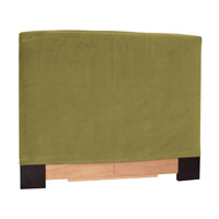Signature Moss Green Velvet Fabric Queen Slipcovered Headboard