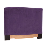Signature Eggplant Velvet Fabric Queen Slipcovered Headboard