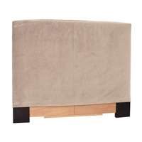Signature Sand Velvet Fabric Queen Slipcovered Headboard