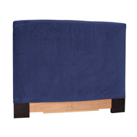 Signature Royal Blue Velvet Fabric Queen Slipcovered Headboard