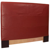 Signature Deep Red King Slipcovered Headboard